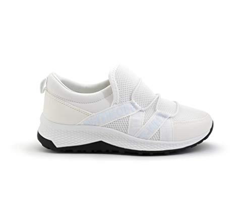 Sportschoenen voor dames, ademend, zonder veters, super aanpasbare zool, wit