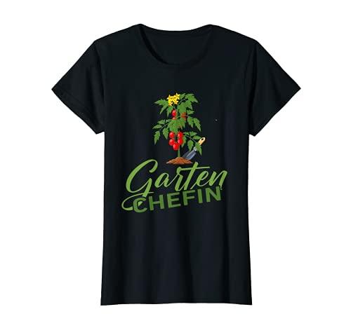 Mujer Garden Chefin - Abono para tomates y verduras Camiseta