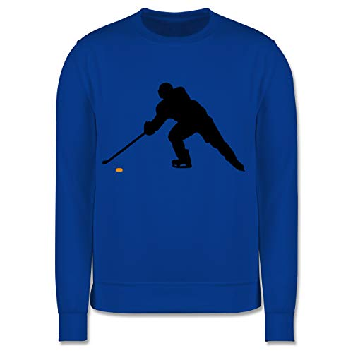 Sport Kind - Hockey Player - 128 (7/8 Jahre) - Royalblau - Eishockey - JH030K - Kinder Pullover