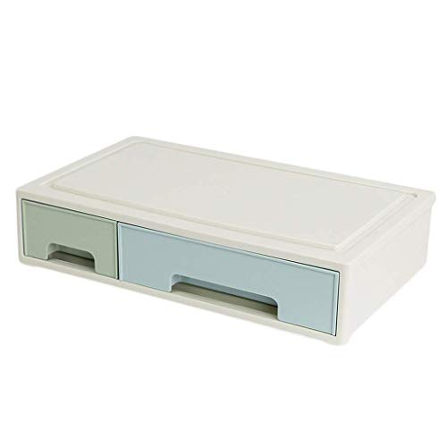 BOX Type de Tiroir En Plastique Cosmétiques Boîte de Rangement Rouge À Lèvres Soins de La Peau Maquillage Pinceau Stockage Vitrine Empilable,L