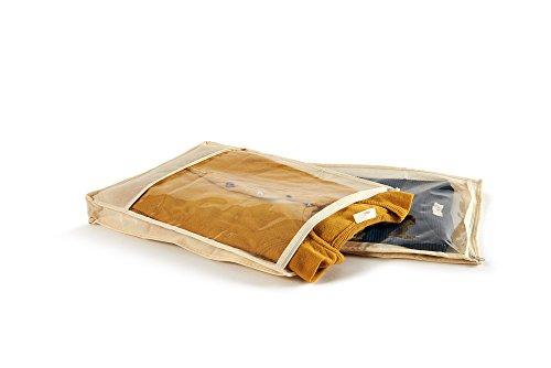 Perfetto TNT Custody Easybag, afmeting-33 x 45 x 5 cm. Trui 2 Stuks-Beige, Stof Ecru, One Size