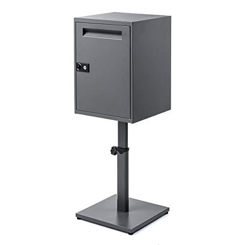サンワダイレクト 宅配ボックス 大容量68L amazonパントリー対応 防水 防サビ ネコポス投函口 鍵式 簡単捺印 専用設置台セット 302-DLBOX016SET