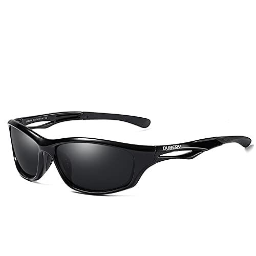 NBJSL Gafas de sol deportivas polarizadas para hombres, mujeres, unisex, gafas de espejo Uv400, gafas de sol para correr, conducir