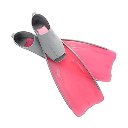 Sgxiyue Snorkeling Diving Swimming Fins Foot Fins Flippers Flexible Comfort Adult Profession Diving Fins Swimming Fins Water Sports (Color : Pink)
