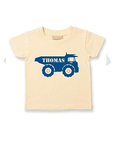 Ice-Tees T-shirt personnalisable pour bébé/enfant Motif Big Digger Truck - Jaune - 2-3 ans