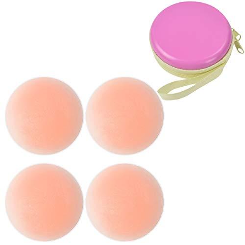 Tuopuda® Pezoneras para Mujer Cubierta de Pezón Pezoneras Adhesivas Silicona Sujetador Pezon (2 pares de forma redonda)
