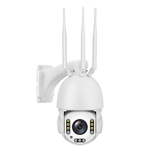Ptz Cámara 5mp 4g Lte Gsm Ai Cámaras de seguridad inalámbricas WiFi Domo IP Cam Sistema con luz LED cálida fuera de la cámara de visión nocturna Pan Tilt Zoom 30x, 128g memoria, audio bidireccional