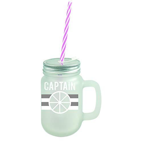 Capitán velero | Mason Jar tapa de rosca de cristal, 400 ml, para jardín, transparente o satinado