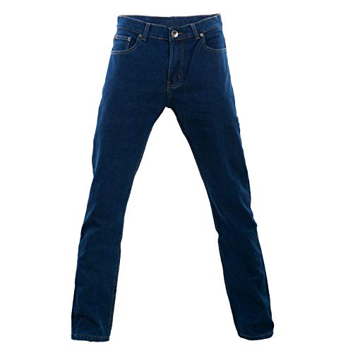 Toocool - Jeans Uomo Pantaloni Imbottiti Pile Felpati Foderati Regular Fit H001 [50,Blu]