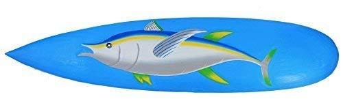 Interlifestyle Atún sobre Decoración Tabla de Surf Letrero de Madera Tabla de Surf Pescado