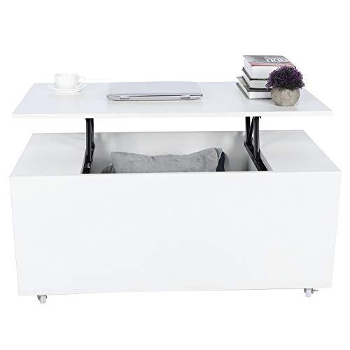 Wakects - Mesa auxiliar moderna con cajones de almacenamiento, apta para salón, oficina, balcón, etc. 100 x 50 x 57 cm