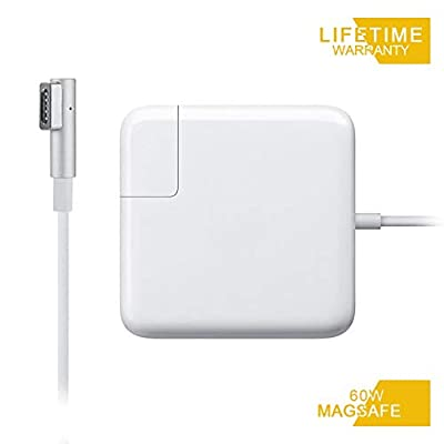 Mac Book Pro Charger, Replacement 60W Magsafe 1 L-Tip Power Adapter Charger for MacBook Pro 13-Inch-Before Mid 2012