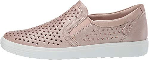 ECCO Women's Soft 7 Laser Cut Slip-On Sneaker, Champagne Metallic, 43 M EU (12-12.5 US)