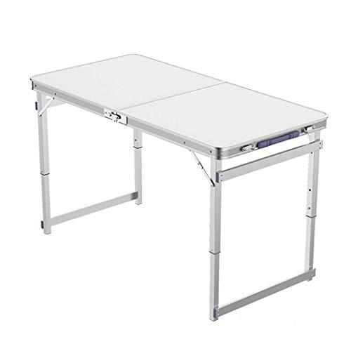 N/Z Equipo Diario Mesas Escritorios Escritorio Mesa Plegable/Sillas Mesa multifunción de aleación de Aluminio Es Posible elevar la Altura Mesa y sillas portátiles para Exteriores/para el hogar Blan