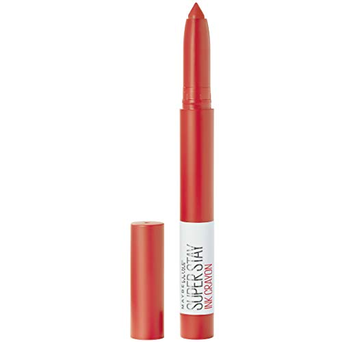 Maybelline SuperStay Ink Crayon Matte Longwear Lipstick With Built-in Sharpener, Laugh Louder, 0.04 Ounce