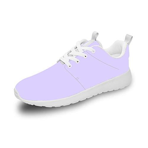 Mesllings Zapatillas de Running Unisex de Lavanda, Ligeras, para Deportes al Aire Libre, Color Multicolor, Talla 42 1/3 EU