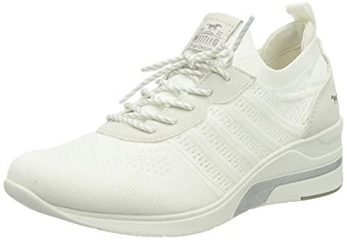 MUSTANG 1378-301, Zapatillas Mujer, Blanco, 42 EU