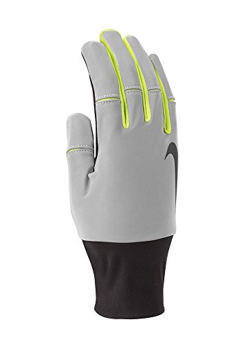 Nike Men's Vapor Flash Run Gloves (XL, Black/Volt)