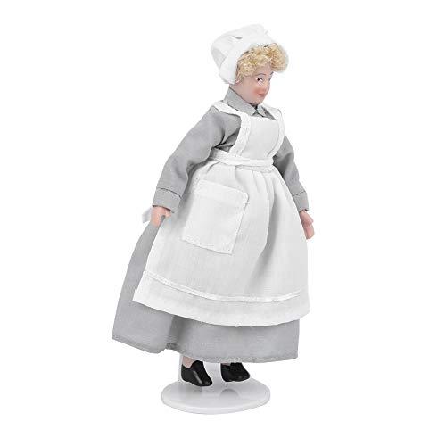 XINL con articulaciones móviles, Gente de casa de muñecas Decorativa de cerámica, Sirviente Victoriano de casa de muñecas, Escala 1:12, Adultos para niños, Amantes de Las Casas de(Chef)