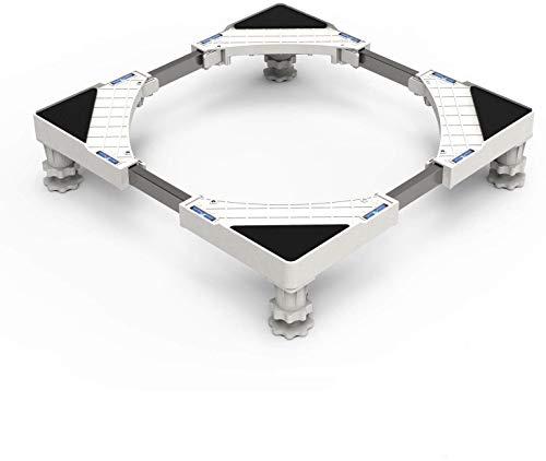 Seisso Soporte para Lavadora/Secadora/Refrigerador Base con 4 Pies de Goma Ajustable de 44.8~69cm