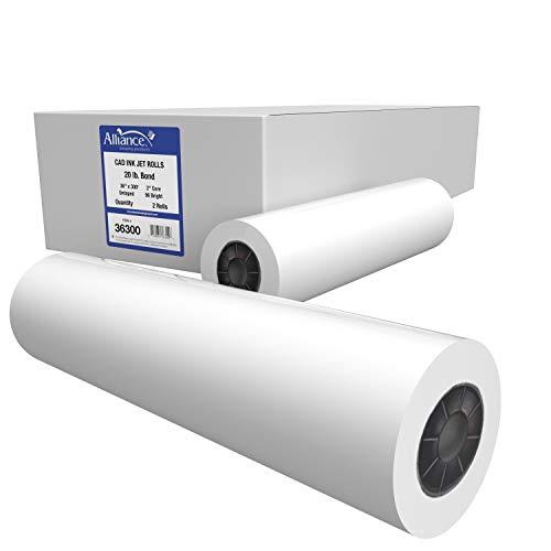 4 ROLLS 36/'/' X 300/' 20lb Bond Plotter Paper