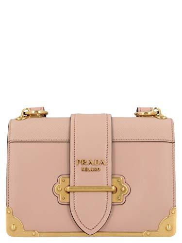 Luxury Fashion | Prada Dames 1BD045VXCH2BB0F0236 Roze Leer Schoudertassen | Lente-zomer 20