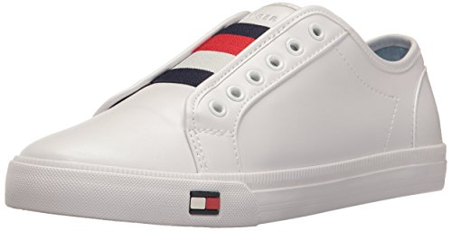 Tommy Hilfiger Womens Anni Slip-On Sneaker, White, 9