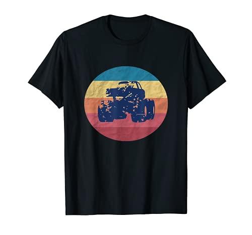 Vintage Monster Truck Are My Jam Retro Sunset Estilo de los Camiseta