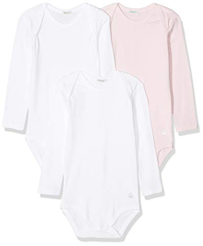 Undercolors of Benetton Lutk Basic 2 Body, Multicolor (Rosa/Bianco 003), 62 (Talla del Fabricante:...