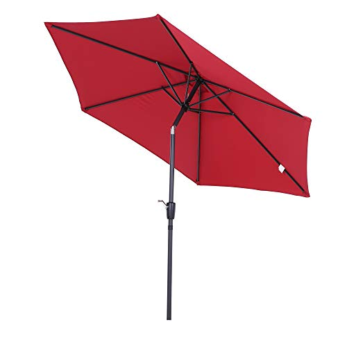 Outsunny Sombrilla Parasol para Jardín Patio Terraza Playa