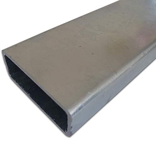 B&T Metall Stahl VERZINKT Rechteckrohr 50 x 30 x 3,0 mm in Längen à 1500 mm +0/-5 mm Flachkantrohr ST37 schwarz roh Hohlprofil RohStahl VERZINKT