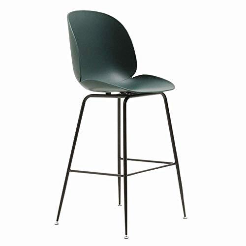 Camere Barkruk barkruk eenvoudige moderne rugleuning bar stoel frame metalen stoel gewicht lager 150 kg zithoogte 63 cm 73 cm 73cm Groen