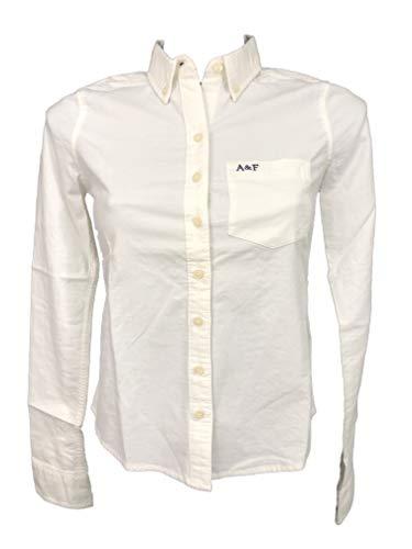Abercrombie & Fitch - Camisa de manga larga para mujer blanco XS