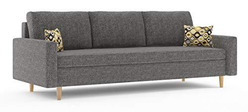 Sofini Couch Etna mit Schlaffunktion! Best Couch! Couch mit Bettkasten! (Lux 06)