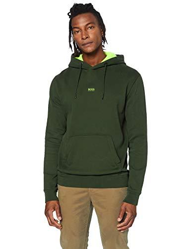 BOSS Mens Weedo Sweatshirt, Open Green (346), M