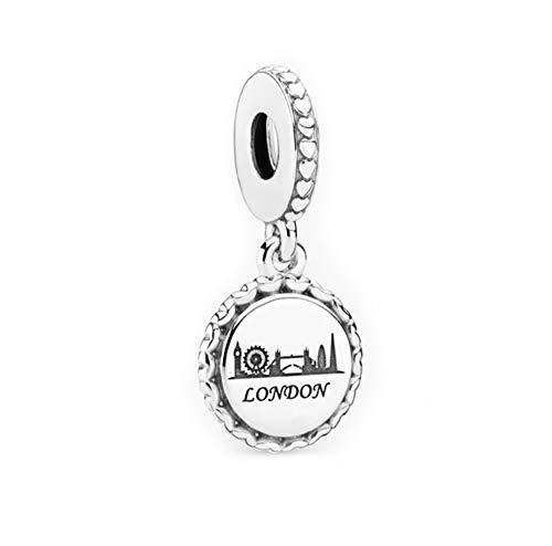 FGT Sterling Silver London Charm for Bracelets Travel Bridge Link of London Dangle Charm Gift for Best Friend Daughter Sister Birthday