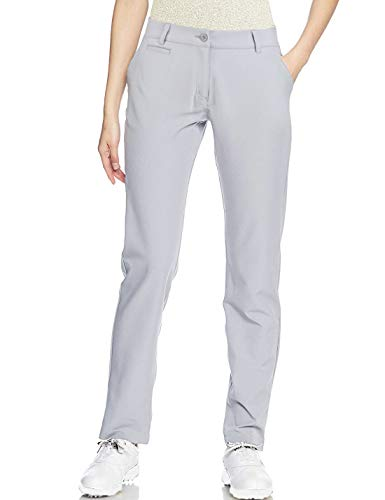 Lesmart Womens Golf Pants Stretch Lightweight Relaxed Fit Ladies Straight Leg Twill Pants Size 8 Grey