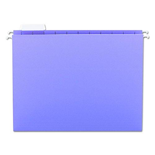 Smead Hanging File Folder, 1/5- Cut Adjustable Tab, Letter Size, Lavender, 25 per Box (64064)