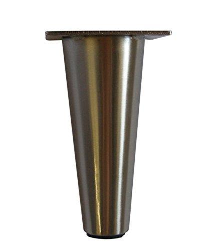 Metal Furniture Legs Round Tapered (Brushed Satin Nickel)...