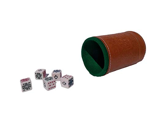 Marquez Poker dice Game Set Honey