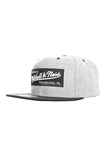 Mitchell & Ness Branded Box Logo Snapback Grey Heather/Black
