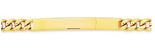 Www.diamants perles.com-- Braccialetto da bambino, identità da bambino, a maglia groumette, in oro, maglia Gourmette piatta