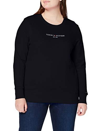 Tommy Hilfiger TH ESS Hilfiger C-nk Sweatshirt Suéter, Azul (Desert Sky), L para Mujer