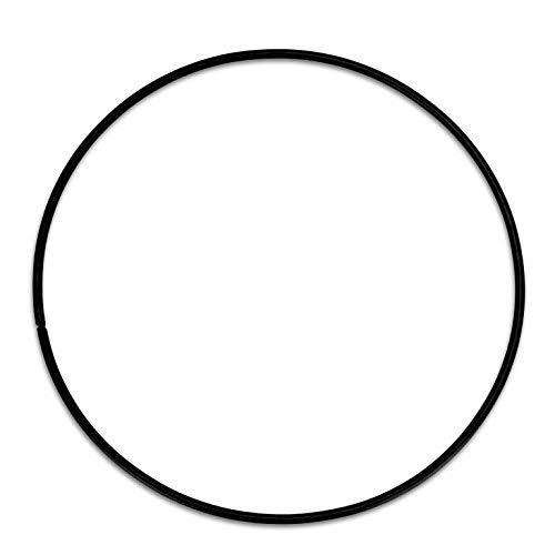 NaDeco Metallring schwarz beschichtet, wählbar in den Größen 20, 30,40 und 50cm Metallringe zum Basteln Drahtring zum Basteln Wickeltechnik Hoops Traumfänger Ring Makramee Ring, Größe:Ø50 cm