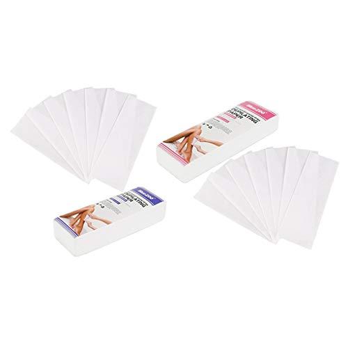IPOTCH 200pcs Cire Bande de Papier Non-Tissés Dépilatoire à Usage Professionnel Épilation Outil Épilatoire pour Visage du Corps Manucure
