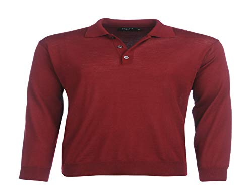 Bexleys man by Adler Mode Herren 50/50 Polo KL dunkelrot L (52)