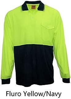 REMIXX Orange and Yellow Hi-Vis Safety Polo Breezeway Quick Dry Workwear Short Sleeve Shirt Top T-Shirt