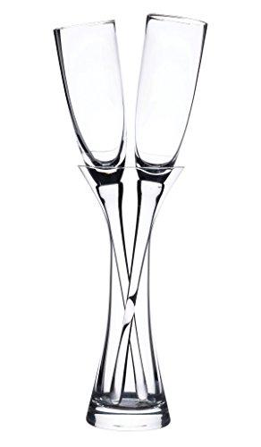 Lillian Rose G200 170,1langstielige klar anrösten Gläser mit Vase