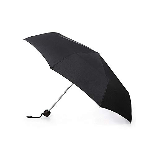 Kleiner tragbarer kompakter Regenschirm mit manuellem Klappmechanismus, Schwarz