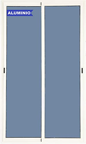 Ventanastock Puerta Balconera Aluminio Corredera 1500 ancho x 2000 alto 2 hojas (marco preparado en kit)